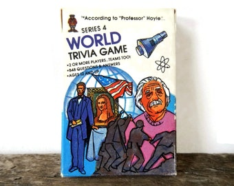 Vintage World Trivia Card Game - Professor Hoyle, Series 4 - fun party game,news, history, science, arts, nostalgia,pop culture,ages 12 & up