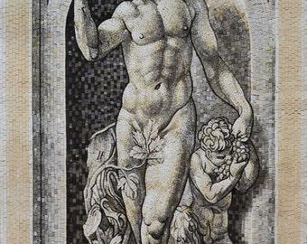 Bachus God Marble Mosaic
