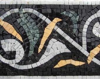 Mosaic Borders - Dark Floral Mosaic
