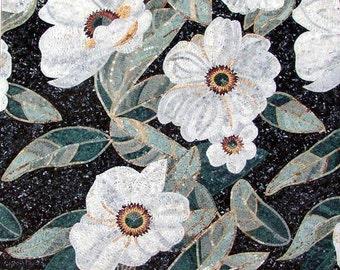 Cymbidium Flowers Handmade Mosaic