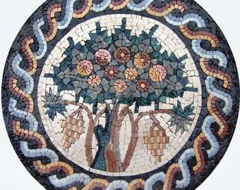 Mosaic Symbol Of Growth- Fruitful Tree