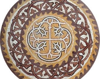 Mosaic Medallion - Coin Shaped