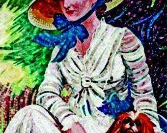 Mosaic Art - Portrait of a Lady
