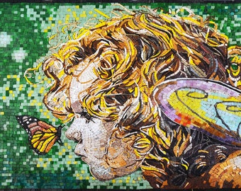 Mosaic Art - The Butterfly Beauty