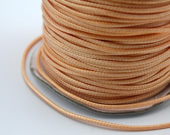 Sale 100 Yards/Roll 2mm Coral Wax Cords, Environmental Protection Wax Cords WS520