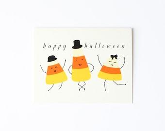 Halloween Card, Candy Corn Card, Happy Halloween Card
