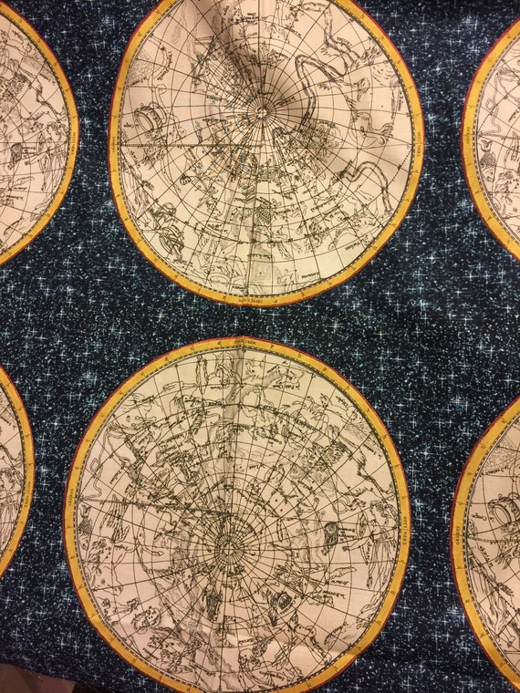 Map of constellations fabric from the galileo collection by map of constellations fabric from the galileo collection by whistler studios for windham fabrics from bungalowquilting on etsy studio gumiabroncs Gallery