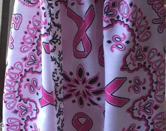 Breast Cancer Awareness bandana dress 2-4yrs