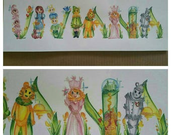 Custom Wizard of Oz Name Painting [One of a Kind]