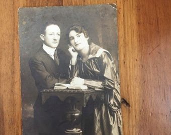1920's Post Card - Married Couple
