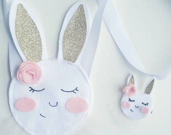 Sleepy bunny satchel