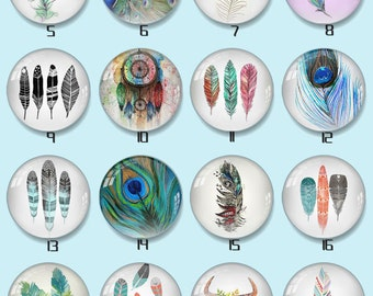 18mm Handmade Round Photo glass Cabochons - Various sizes 8mm-58mm Cabochon -xy825