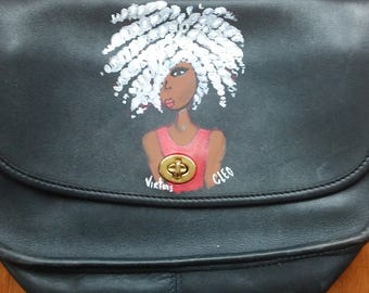Twist Out Sista Handpainted Black Purse