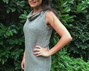 Dress, wool dress, hand knitted dress, Woman dress
