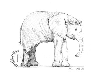 Baby Elephant Note Cards