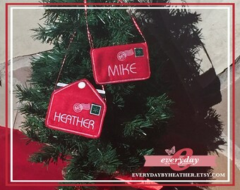Christmas Tree Ornament - Gift Card / Money Envelope - Personalized