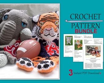 Iron Bowl Blankie Bundle - Alabama vs. Auburn - crochet pattern pack - PDF Instant Downloads