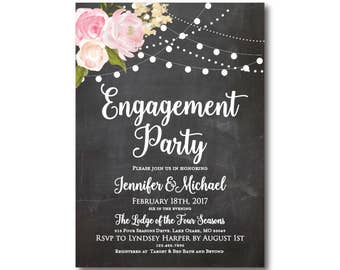 PRINTABLE Engagement Party Invitation, Engagement Party Invitation Printable, They're Engaged, We're Engaged, Engagement Party #CL104