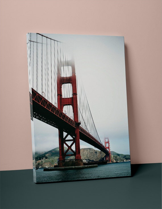 Golden Gate Bridge v2 on Mirror Wrapped Canvas