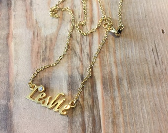 Leslie Necklace in Gold or Silver