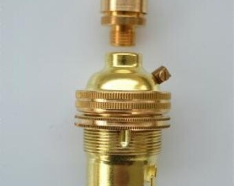 UK made brass B22 bayonet bulb holder 10mm SR7