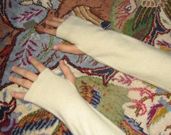 Cashmere Arm warmers - fingerless gloves - typing gloves