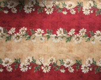 He Loves Me Fabric - Jackie Robinson & Maywood Studios 1913 Daisy Border Fabric- Quilters Cotton - Price per Yard
