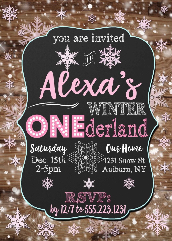 Winter Onederland invitation, winter onederland birthday invites ...