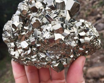 Pyrite crystal cluster