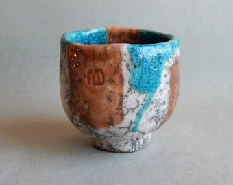 Bowl Raku, pottery, bowl, cup for coffee, tea bowl, gift for her, gift for him, dishes made of clay, art ceramics, ceramics Raku