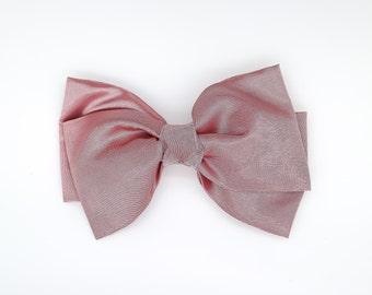 Big Bow Hair Clip, Pale Pink Bow Hair Clip, Girls Bow Hair Clip, Toddler Gold Hair Clip, Girls Bow Hair Clip, Big Bow Hair Clip, 1080