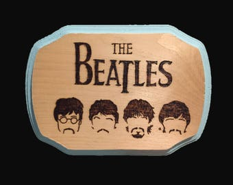 The Beatles Wood Sing, Home Decor, Woodburned Plaque, Gift Idea, Beatles Fan, Music Lover