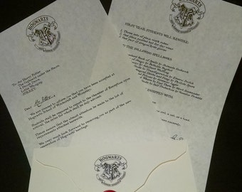 Harry Potter Hogwarts Letter