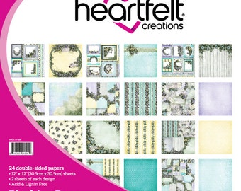 """Heartfelt Creations Blushing Rose Paper Collection 12"""" x 12"""" HCDP1-271"""