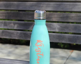 stainless steel water bottle , bridal party bottles, bachelorette party bottles, insulated water bottles,personalized bottles, sports bottle