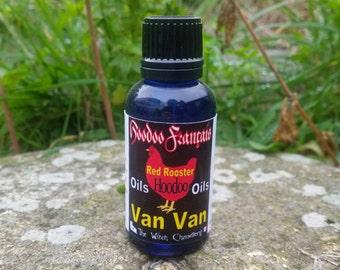 Van Van oil, hoodoo ritual oil, hoodoo tricks, talisman charging oil, new prospects magic,