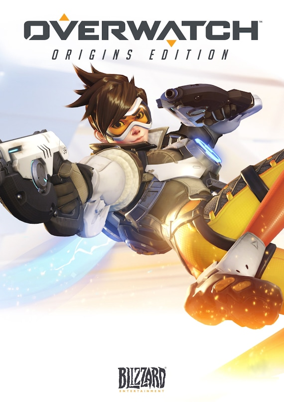 "Overwatch Poster, Overwatch Video Game Print, New Tracer Overwatch Blizzard Poster, Tracer Art, High Resolution Size - 13x20"" 24x36"" 32x48"""
