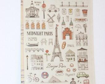 """sticker  """"midnigt in Paris  """""""