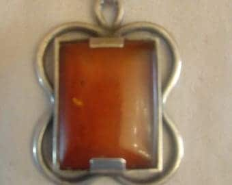 Amber in 900 silver version probably 30s 35 x 23 mm
