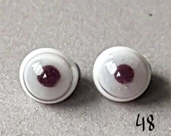 Glass eyes for miniatures, 4 mm, grey, miniature, small eyes, small glass eyes,