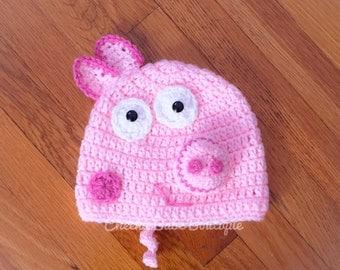 Peppa Pig Inspired Hat