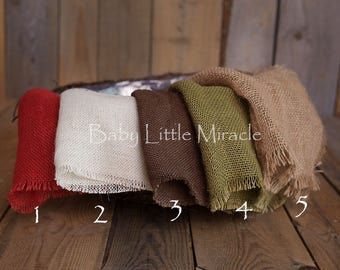 Burlap, Burlaps, Newborn photo prop, Mini Burlap Blankets, Layering Burlap Prop, Neutral photo stuffer