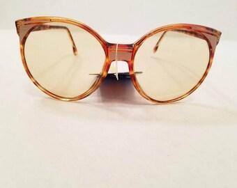 Vintage 1970s Deadstock New With Tags Corning Chameleon Sunsensor Sunglasses Tortoise Shell Frames Gradient Lenses Italian