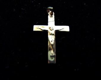Vintage Estate 10k Gold Religious Crucifix Cross Pendant 0.8g #E2895