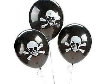 10/  Pirate balloons  /  Party balloons / pirate theme/ pirate