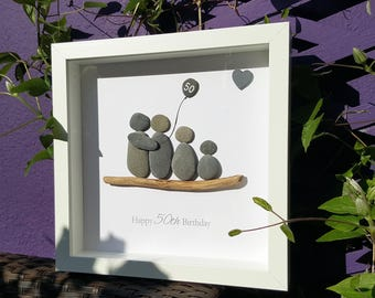 Happy Birthday - Cornish Pebble Art Picture