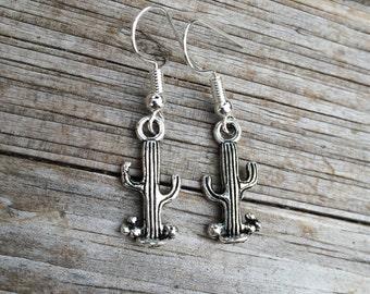Cactus Earrings, Charm Earrings, Desert Earrings, California Earrings, Gifts for her
