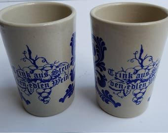 Salt Glazed Pottery Cups