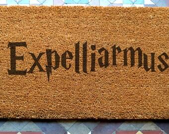 door mat  Expelliarmus engraved coir door mat Size: 400 x 600 mm   UK Based