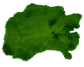 Rabbit Skin Better Grade Dyed Green (134-072)
